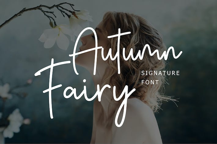 Thumbnail for Autumn Fairy Signature Monoline Script