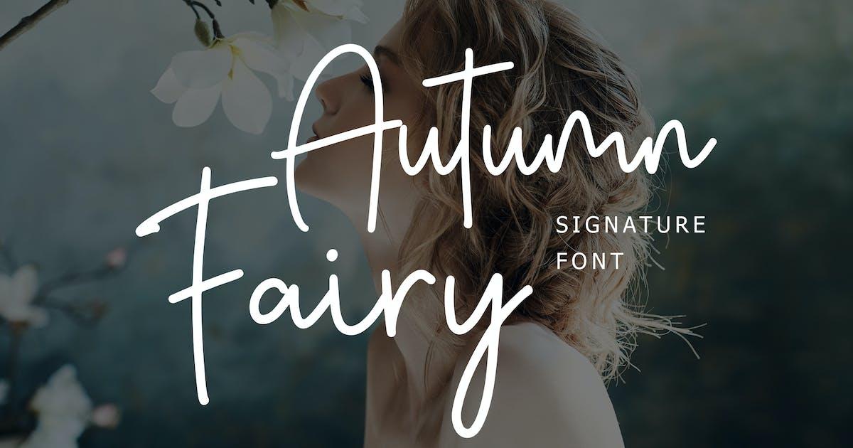Download Autumn Fairy Signature Monoline Script by giantdesign