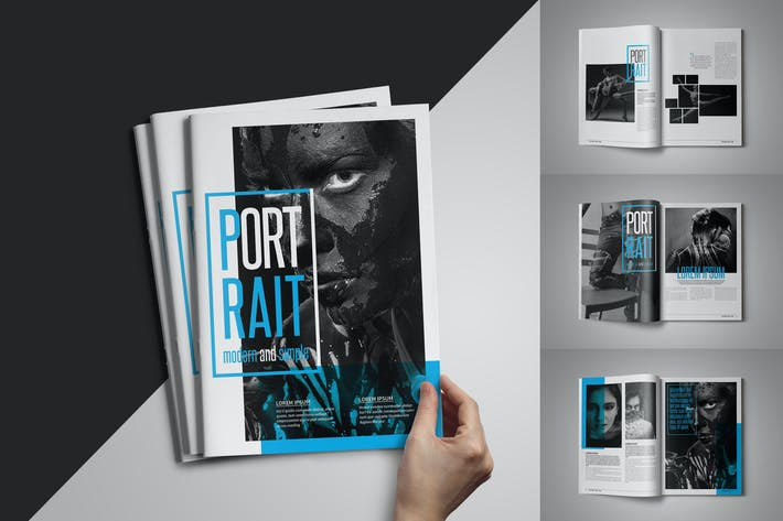 Thumbnail for Portrait Magazine Template