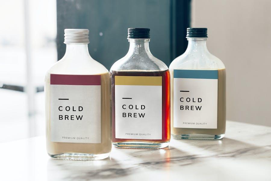 Cold Brew Kaffeeflasche Mockup Design
