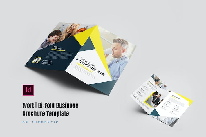 Cover Image For Wort | Bi-Fold Business Brochure Template
