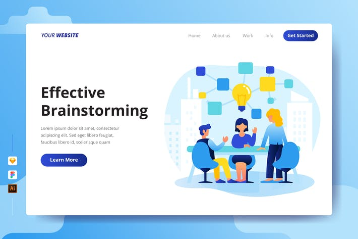 Thumbnail for Effective Brainstorming - Landing Page