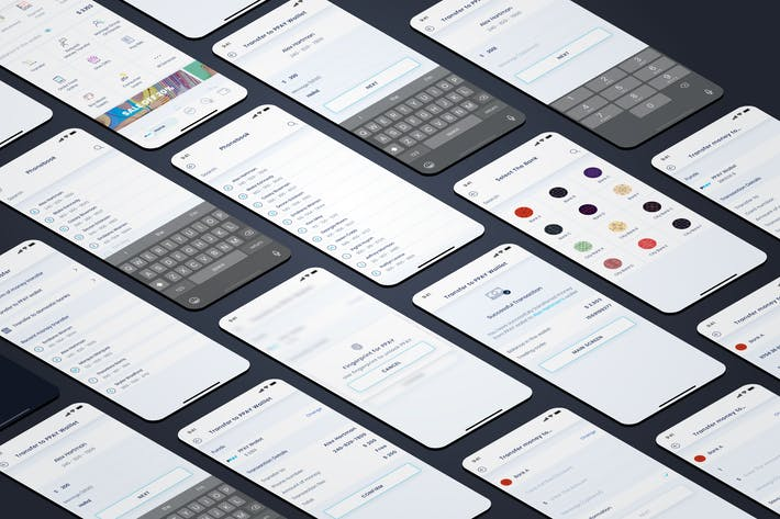 Thumbnail for Перенос - Мобильный интерфейс кошелька - FP
