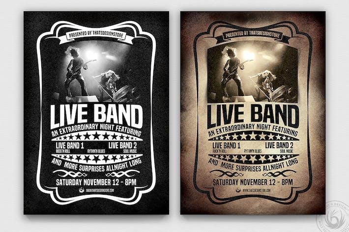 Thumbnail for Live Concert Flyer Template V1