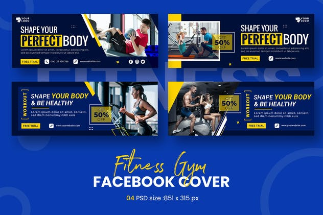 Fitness Facebook Timeline Covers