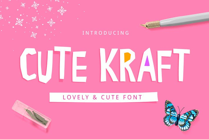 Thumbnail for Cute Kraft Fonts