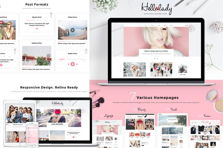 Thumbnail for HelloLady Woman Blog PSD Template