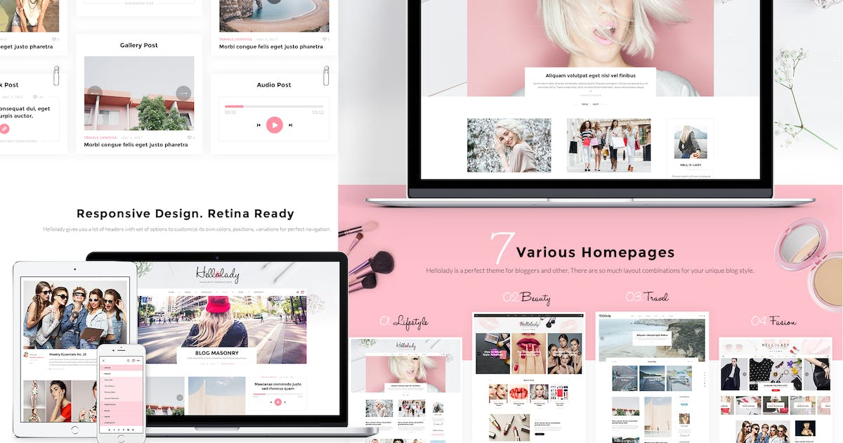 Download HelloLady Woman Blog PSD Template by CreativeWS