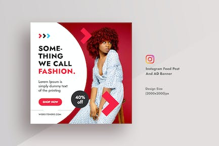 Promotional Fashionable Dress Instagram Feed Post