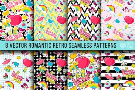 Retro Romantische Muster