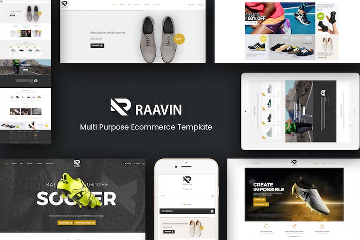 Thumbnail for Raavin - Zapatos Responsivo Prestashop Tema