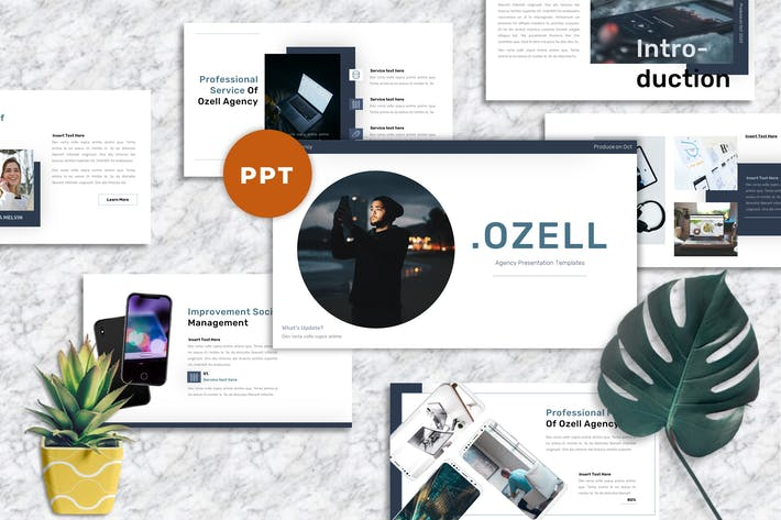Thumbnail for Ozell - Агентство Шаблоны PowerPoint
