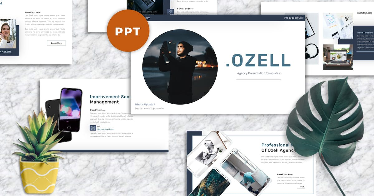Download Ozell - Agency Powerpoint Templates by Yumnacreative