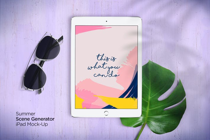 Cover Image For Summer Scene Generator iPad Mock-Up