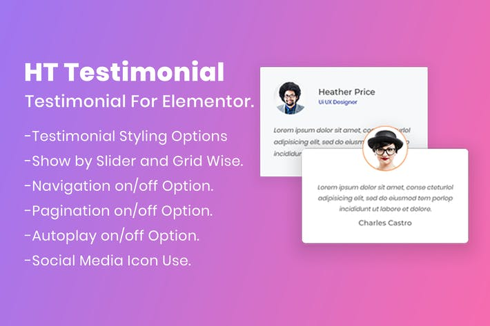 Thumbnail for HT Testimonial For Elementor