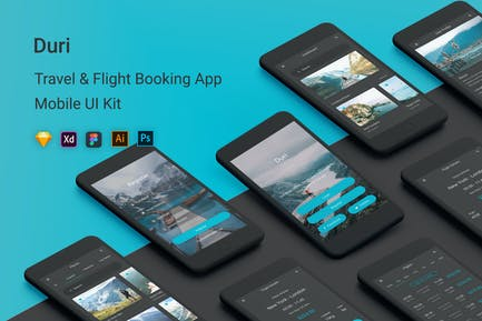 Duri - Travel & Flight Booking UI Kit