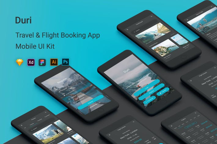 Thumbnail for Duri - Travel & Flight Booking UI Kit