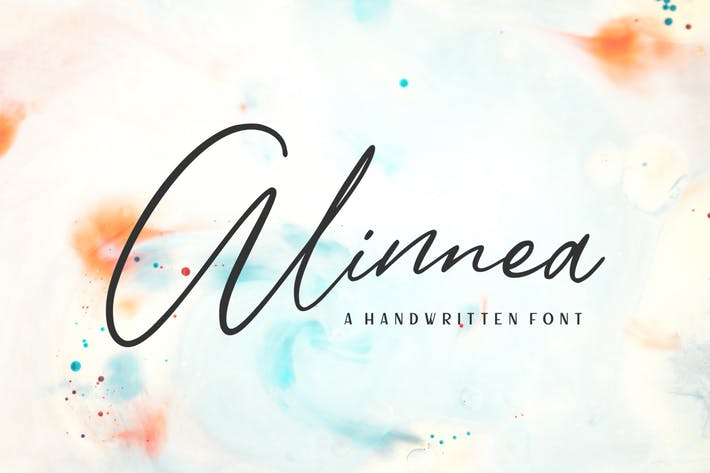 Thumbnail for Alinnea | Handwritten Font