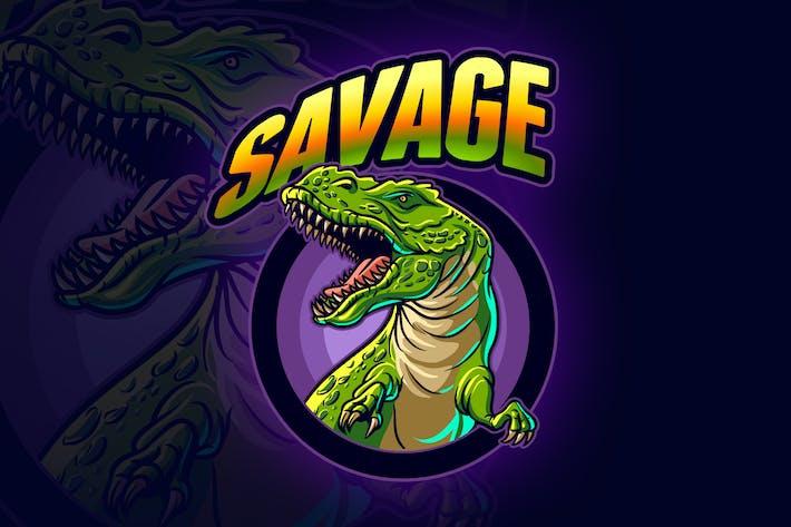 Thumbnail for Tyrannosaurus Rex - T-Rex Dinosaur Esports Logo