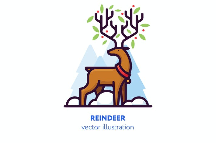 Thumbnail for Reindeer illustration