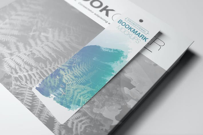 Promotional Bookmark Mockups Vol2