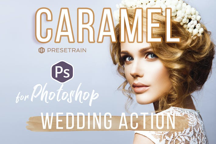 Thumbnail for Caramel Wedding Photoshop Action