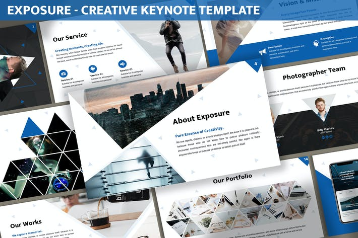 Thumbnail for Exposure - Creative Keynote Template