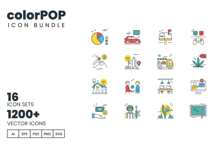 Thumbnail for colorPOP Bundle - 1200+ Icons