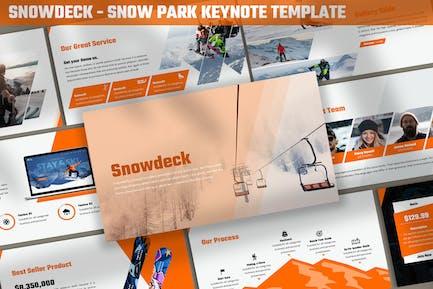 Snowdeck - Шаблон Keynote ow Park
