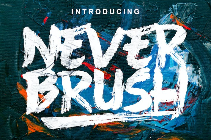 Thumbnail for Never Brush Font