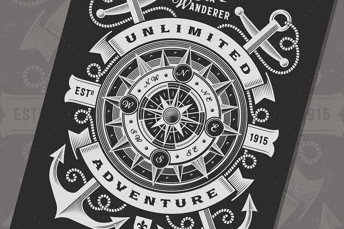 Cover Image For Vintage Unlimited Adventure Typography