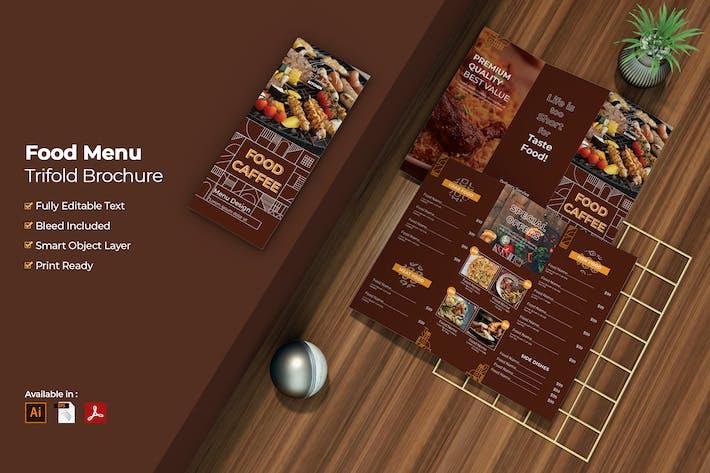 Thumbnail for Food Menu Trifold Broschüre