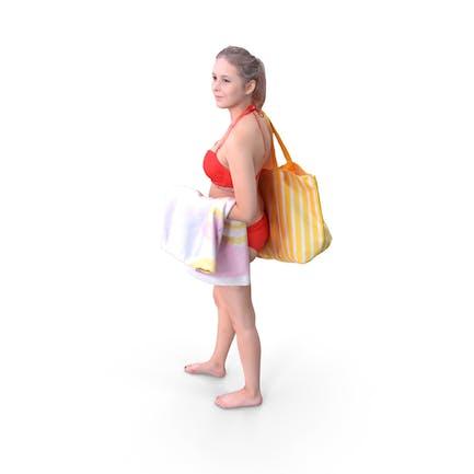 Pool Woman Posed