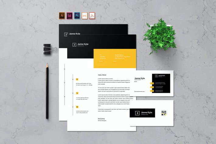 Thumbnail for Letterhead & Business card - Rantautemp