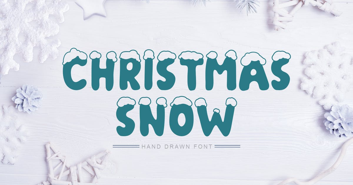 Download Christmas Snow Hand Drawn Font by timonko