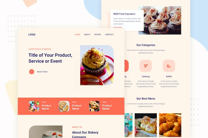 Thumbnail for Bakery Food - Email Newsletter