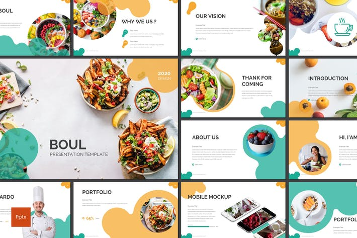 Thumbnail for Boul - Food Powerpoint Template