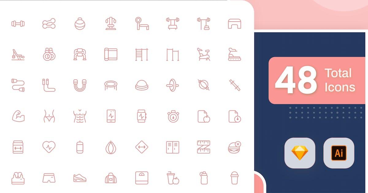 Download Line Senja - Fitness by sudutlancip