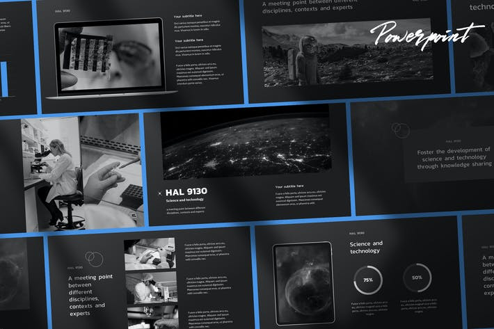 Thumbnail for Hal - Tech & Science Powerpoint Шаблон
