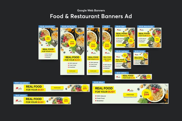 Thumbnail for Food & Restaurant Banners Ad