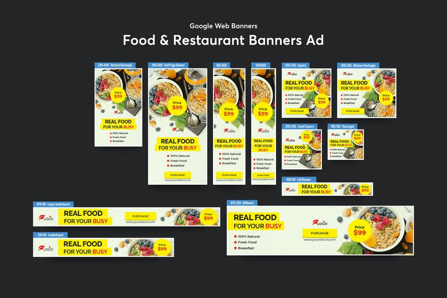 Food & Restaurant Banners Ad