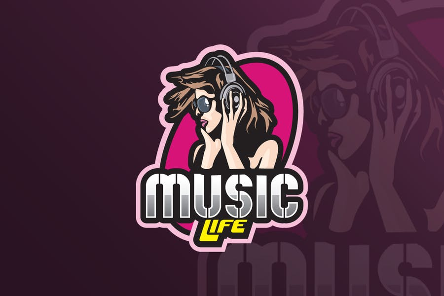 Music Mascot & eSports Gaming Logo