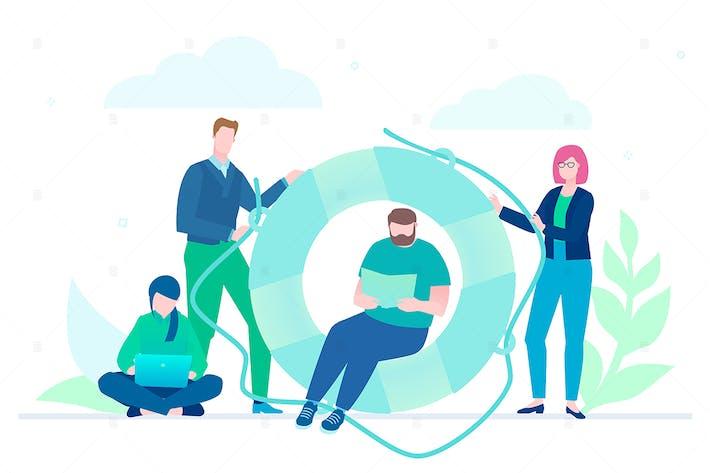 Thumbnail for Business cooperation - flat design illustration