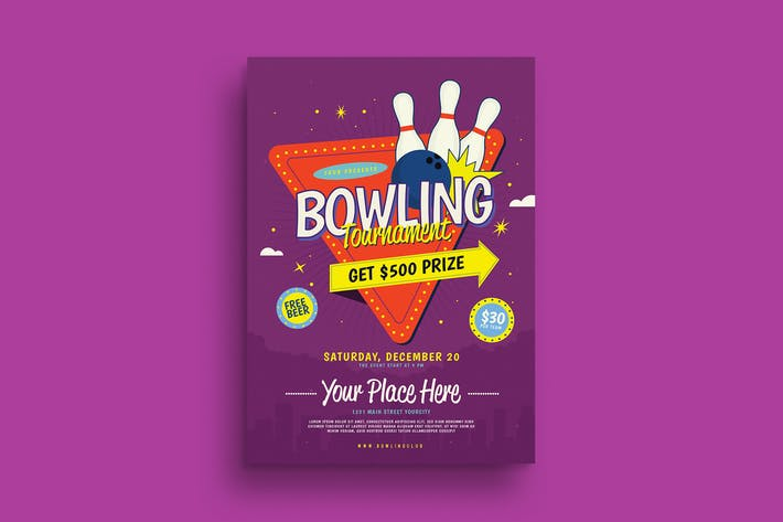 Thumbnail for Bowling Night Tournament Flyer