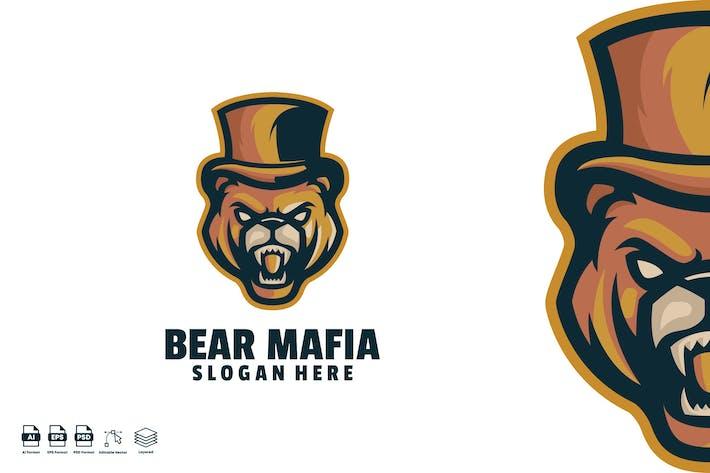 bear mafia logo template