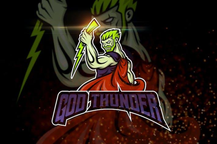Thumbnail for God of Thunder - AI and PSD Esport Logo Template