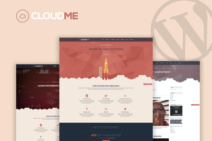 Thumbnail for Cloudme Host - WordPress Hosting Theme