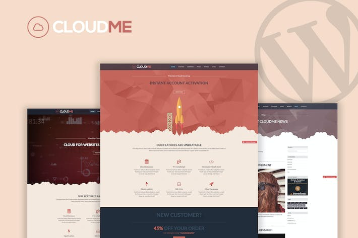 Cloudme Host - WordPress Hosting Thema
