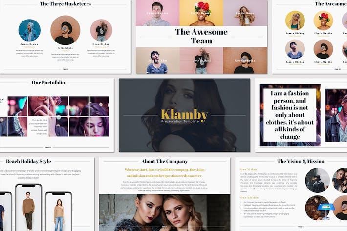 Thumbnail for Klamby - Keynote Template