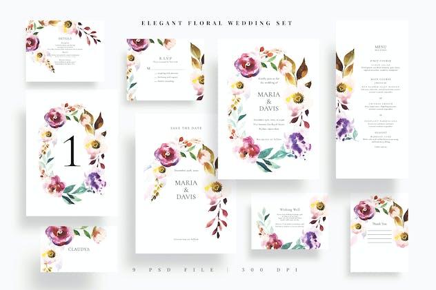 Elegant Floral Wedding Set EZ